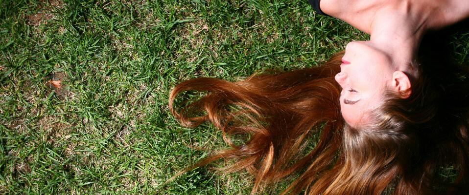 solskadet hår