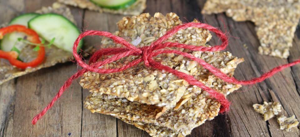 Havregrødsknækbrød er oplagte som aftensnack