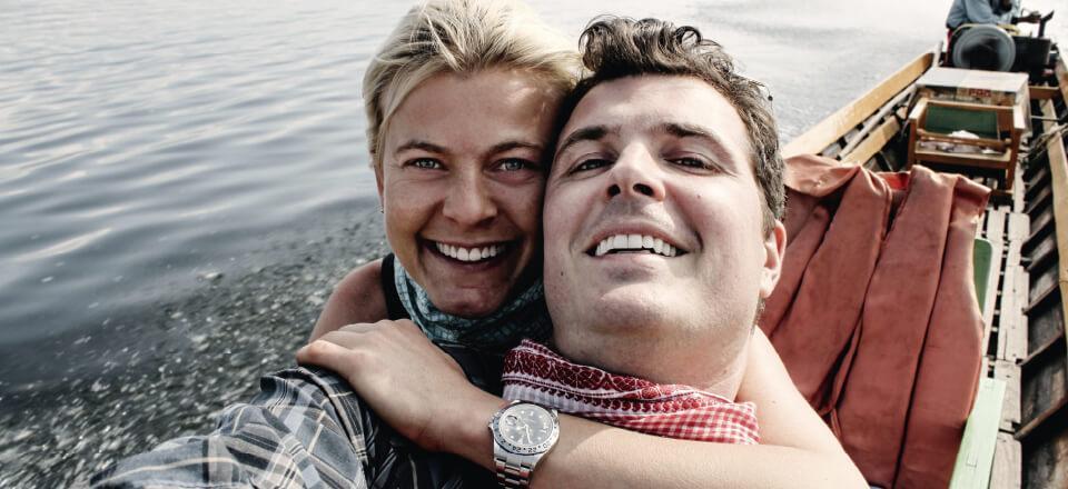 Pelle Hvenegaard og hans kone rejste meget, men tænkte mest på at blive forældre