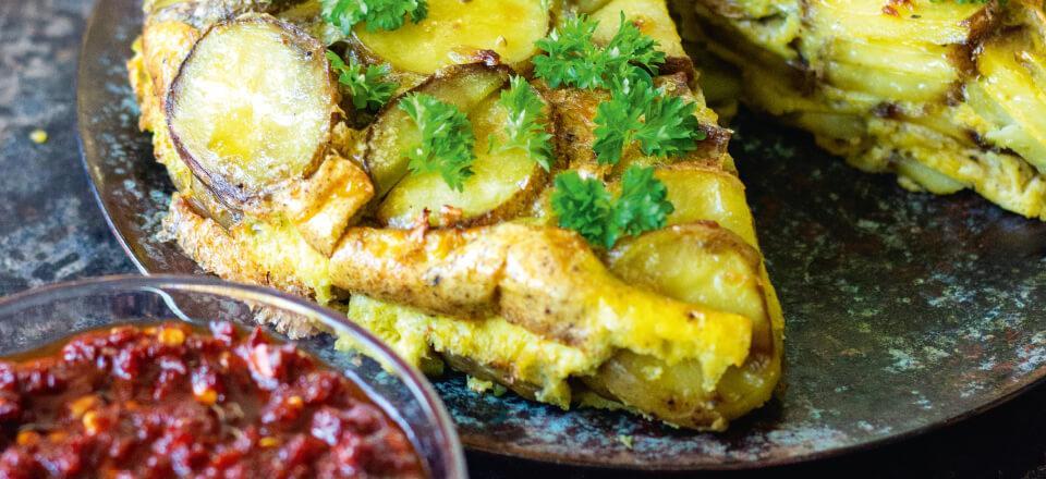 Spansk tortilla fra Julie Juanita Larsens kogebog – find opskrift