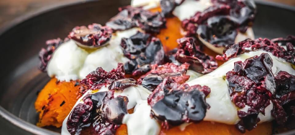 Butternutsquash med sorte oliven