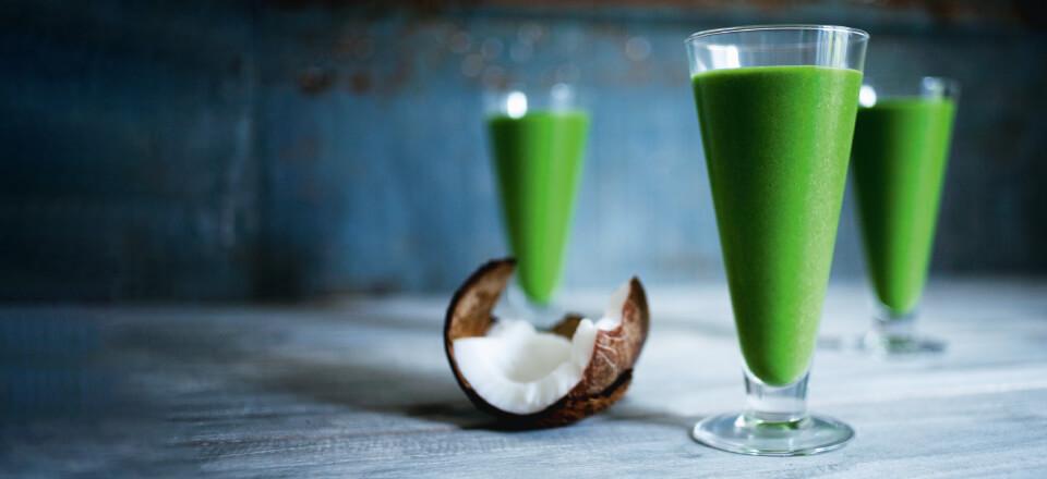 Hæld grønt i glasset!